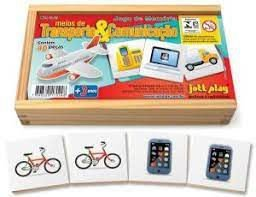 Jogo da Memória : meios de transporte e comunicação ( 3 anos+)