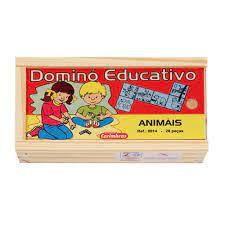 Jogo de Dominó Educativo : Animais (3 anos+)