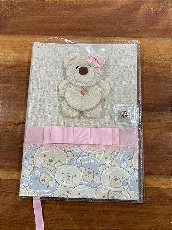 Caderneta de Vacinação Urso Rosa