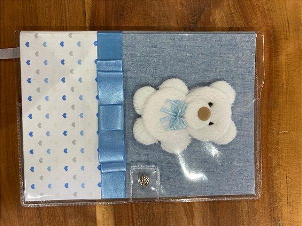 Caderneta de Vacinação Ursinho Azul