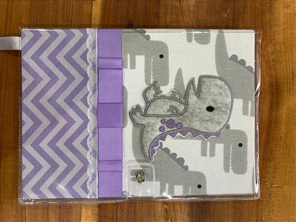 Caderneta de Vacinação Dino Lilás