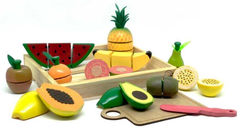 Comidinha de Brincar Kit 11 Frutas com Corte (3 anos+)