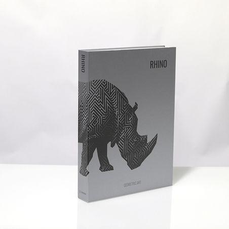 BOOK BOX METALIZ RHINO GEOMETRIC