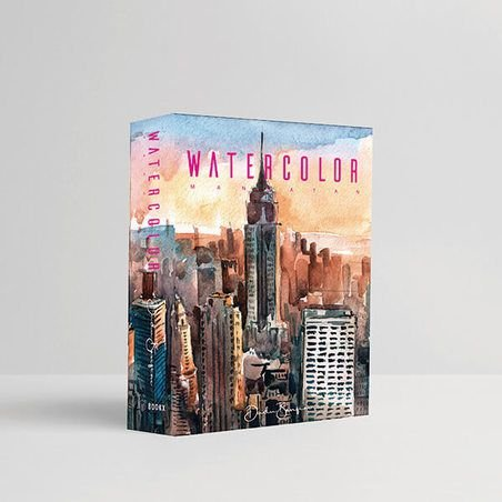 BOOK BOX WATERCOLOR