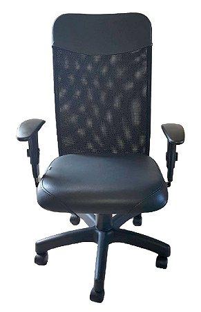 Cadeira de escritório Presidente com encosto de Tela e base giratória