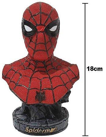Busto Spider Man Estatua Em Resina Homem Aranha Busto Action Figure 18cm