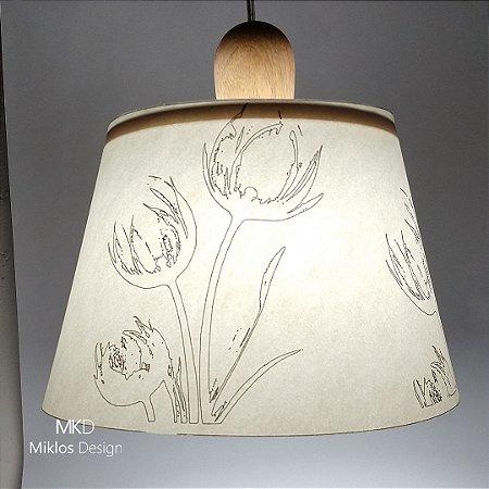 Luminária pendente Floral