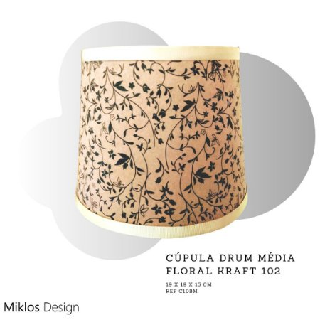 Cúpula drum média floral kraft