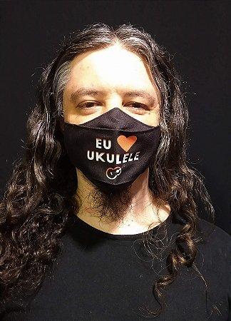 Máscara Reutilizável Tecido Lavável Toca Ukulele UTU [Novo modelo!]