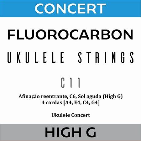 Encordoamento Ukulele Concert High G C11