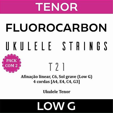Encordoamento Ukulele Tenor Low G T21 (Pacote com 2)