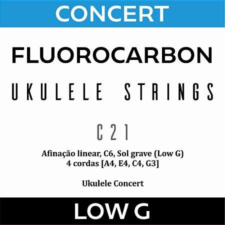 Encordoamento Ukulele Concert Low G C21