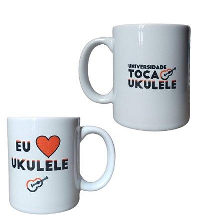 Caneca Eu amo ukulele | UTU (Universidade Toca Ukulele)