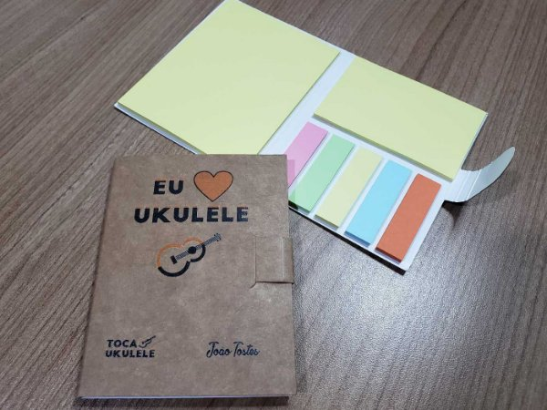 Bloquinho de Post it Eu amo ukulele