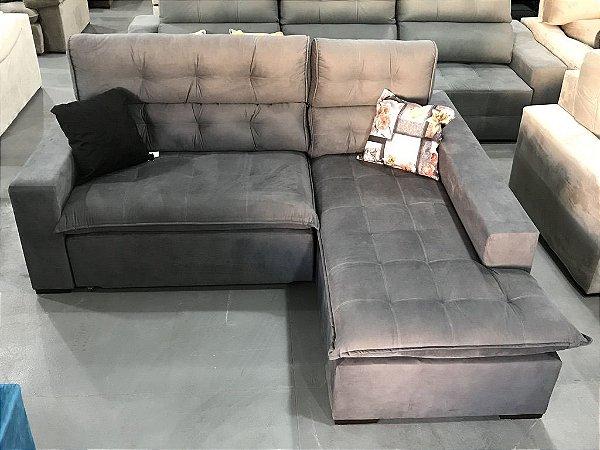 Sofá com Chaise Cinza