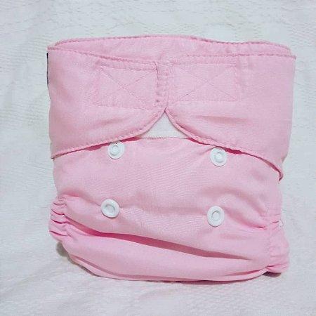 Fralda Ecológica Recém Nascido Rosa Bebê Lêli - Modelo Capa sem Bolso