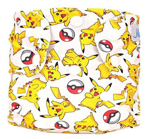 Fralda Ecológica Recém Nascido Pikachu - Mari Fraldas