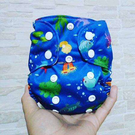 Fundo do Mar - Recém Nascido - Mari - Pull - Pocket - Interior em dry-fit