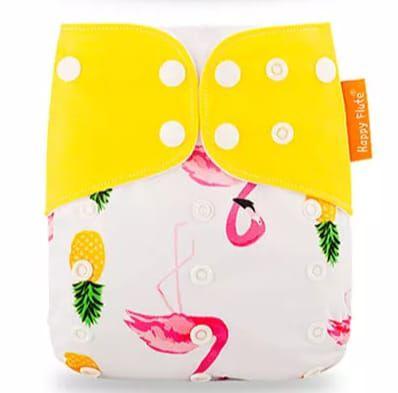 Fralda Ecológica Flamingo e Abacaxi Happy Flute