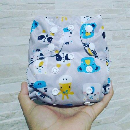 Safari - Recém Nascido - Mari Fraldas - Pull - Pocket - Interior em dry-fit