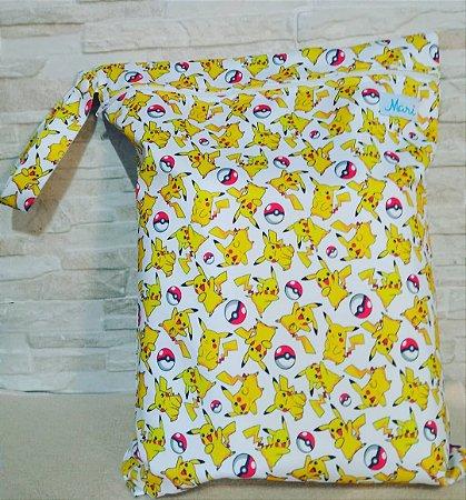 Pikachu - Sacola Impermeável - Mari Fraldas