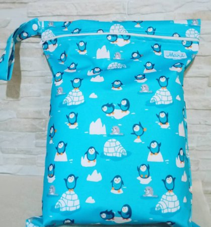 Pinguim - Sacola Impermeável - Mari Fraldas