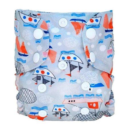 Barco - Recém Nascido - Mari Fraldas - Pull - Pocket - Interior em dry-fit