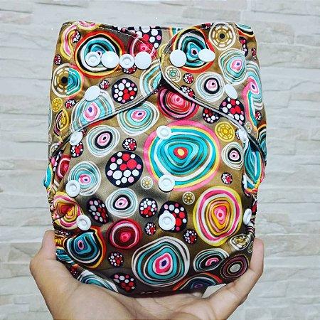 Círculos Coloridos - Ananbaby - Pocket - Interior em Suedine