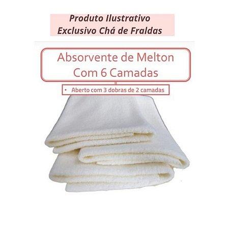 Kit 2 Abs Melton 6 camadas exclusivo Chá de Fraldas