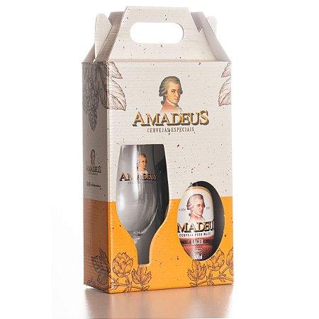 Kit Tulipa (Copo Tulipa / Cerveja Lager Puro Malte Amadeus 500 mL)