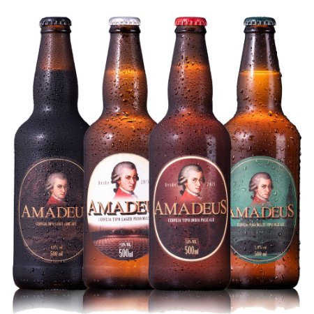 Kit 4 Cervejas Amadeus 500 mL