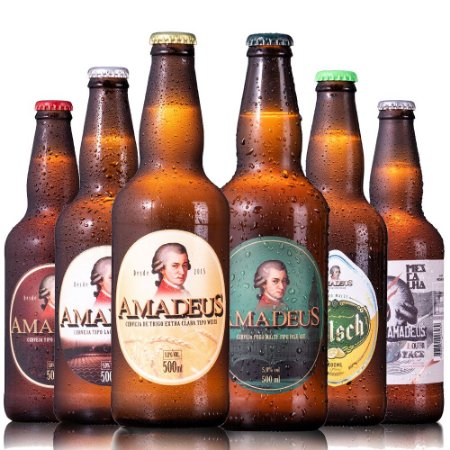 Kit 6 Cervejas Amadeus 500 mL