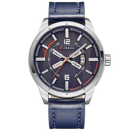 c2886990edd Relógio Masculino Curren Analógico 8211 Azul - ROMAPLAC