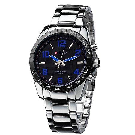161e277455f Relógio Masculino Curren Analógico 8107 Azul - ROMAPLAC