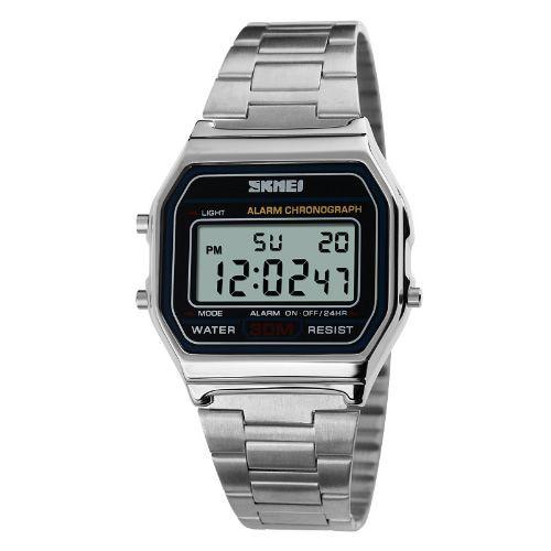 3c02262d60a77 Relógio Masculino Skmei Digital 1123 Prata - ROMAPLAC