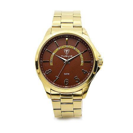 77f9c4e6fc0 Relógio Feminino Tuguir Analógico 5021 Dourado - ROMAPLAC