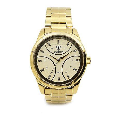 04652e5640b Relógio Feminino Tuguir Analógico 5024 Dourado - ROMAPLAC