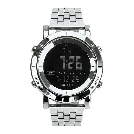 cd0e9327f72 Relógio Masculino Tuguir Metal Digital TG6017 Prata e Preto - ROMAPLAC