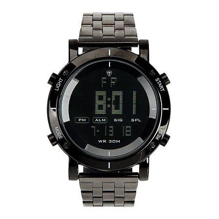 2266b3bc2d1 Relógio Masculino Tuguir Metal Digital TG6017 Preto - ROMAPLAC