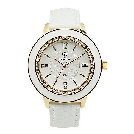 09d9d70ccbf Relógio Feminino Tuguir Analógico 5079G Branco - ROMAPLAC
