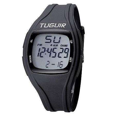 d2bf4c774b8 Relógio Unissex Tuguir Digital TG1602 Preto e Branco - ROMAPLAC
