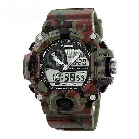 8d8dcd676a4 Relógio Masculino Skmei Anadigi 1053 Camuflado - ROMAPLAC
