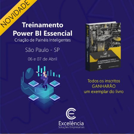 Treinamento de Power BI Essencial - SP - 06 e 07 de Abril