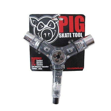 Chave Multifuncional PIG Transparente (Faz a rosca do Truck)