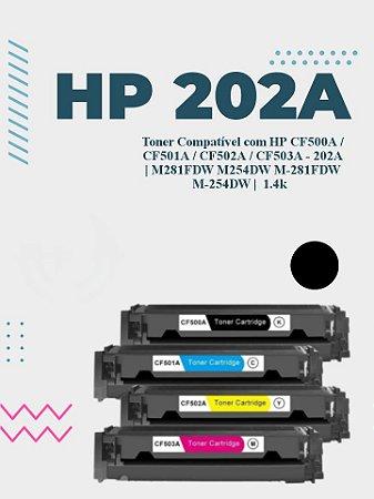 HP CF500A 202A PRETO