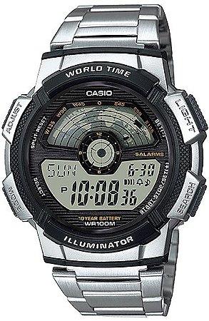 RELÓGIO CASIO MASCULINO WORLD TIME AE-1100WD-1AVDF