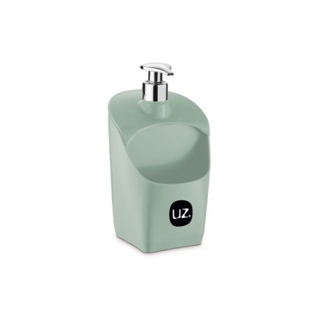 Porta Detergente Verde Menta Solido com Válvula Metalizado de Plastico UZ