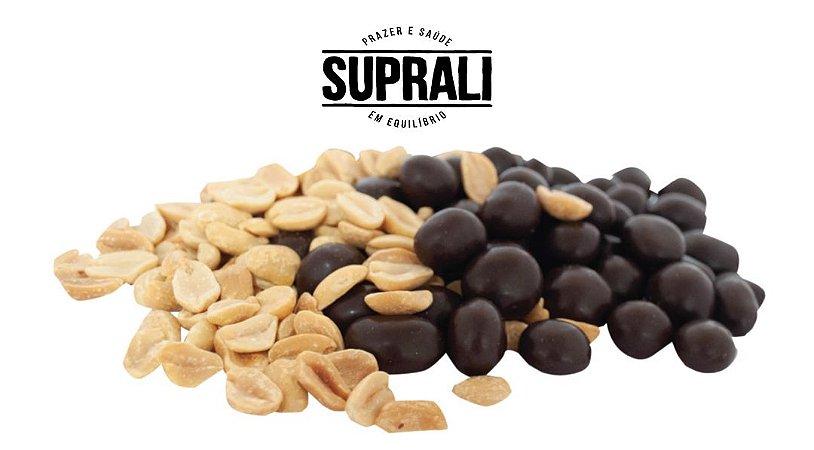 Amendoim drageado em chocolate 70% cacau (200g)