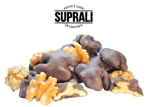 Nozes chilenas banhadas em chocolate 70% cacau (200g)