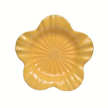 Travessa Cerâmica Flor Amarela
